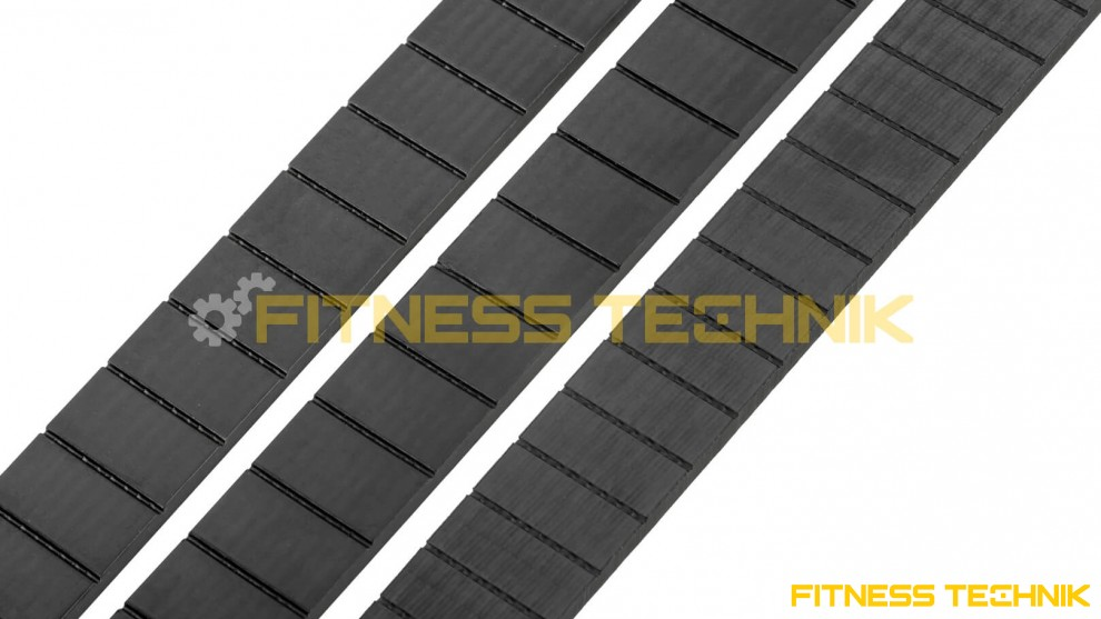 Kevlar belts for fitness machines- profile view